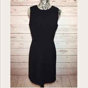 J. Crew Black Sleeveless Sheath Dress Size 8